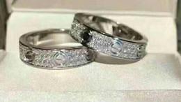 anillos de juego de tronos Rebajas Anillos de joyería Anillo de bodas de compromiso de acero de titanio 2/3 filas Diamante de circón para hombres y mujeres 2 Seleccione color