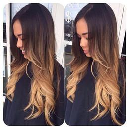 tramas del pelo de la pulgada Rebajas Black Rose Hair 1B / 4/27 # Body Wave Bundles Brasileño Malasio Brasileño Peruano Virgen Cabello Humano 3 Tramas Ombre Black to Blonde 12-26 Inch
