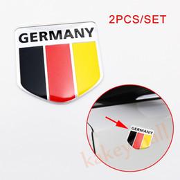 Autoadesivi del corpo del motore online-2X Germania Flag Badge Emblem Chrome Motor Stamping Body Decorate Scudo adesivo