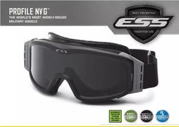 Casco táctico del ejército online-Las gafas tácticas de ESS NVG caben con los cascos, los Eyeshields de combate al aire libre durables, los lentes de sol balísticos de 3 lentes de la visión nocturna del ejército