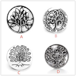 Argentina Vintage Noosa Chunks Metal Snap Button Jewelry 4styles Árbol de la vida 18MM Botones a presión Fit 18mm Snap Button Bracelet Necklace cheap tree life snaps Suministro