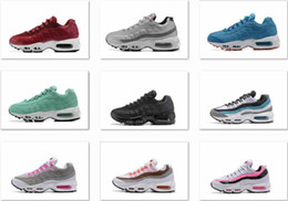 Wholesale Navy Surface - Womens Sneakers Shoes Cushion AIR 95 Running Shoes Black Red White Sports Trainer Women Surface Breathable Sports Casual Shoes
