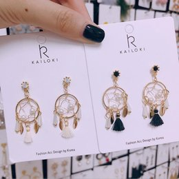 Pequenos encantos de metal on-line-Designer de jóias borla charme brincos de tecelagem de metal brincos pequenos pingente para as mulheres hot fashion livre de transporte