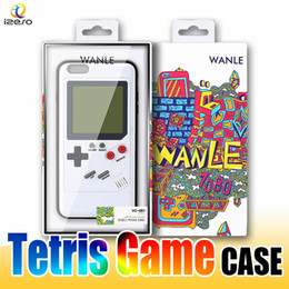 Wholesale Play Console Games - Gameboy Tetris Phone Cases Play Blokus Game Console Cover Classic Shockproof Protection Case for iPhone X 6 6s 7 8 Plus Retail packaging