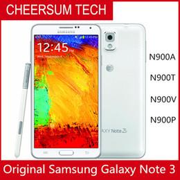 2019 телефоны 5.7 экран Восстановленное Samsung Galaxy Note 3 мобильный телефон ROM 16G Android 4.3 Quad Core 3G RAM 13MP Камера 5.7-дюймовый оригинальный экран телефона Samsung дешево телефоны 5.7 экран