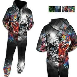 2019 mulher esqueleto de calças Atacado Halloween e Carnaval Adulto Cosplay macacão para homens Skeleton Skull Pijama Macacão Hoodies calças Cosplay Roupas Femininas mulher esqueleto de calças barato