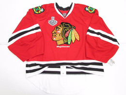 Wholesale Ice Hockey Goalie Jersey - Cheap Custom CHICAGO BLACKHAWKS HOME 2013 STANLEY CUP EDGE JERSEY GOALIE CUT 60 Mens Stitched Personalized hockey Jerseys