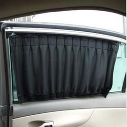 Wholesale Uv Cars - 2016 High Quality 2 pcs 50cmx45cm Cloth Fabric Car UV Protection Windscreen Sunshade Curtain Car Window Sun Shade Visor Black