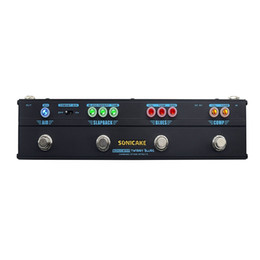Effektpedalkompressor online-Sonicake Multi Effektpedal kombiniert Bühne Kompressor, Overdrive, Verzögerung, Reverb 4 in 1 Twiggy Blues Mini Pedal großen Klang QCE-20