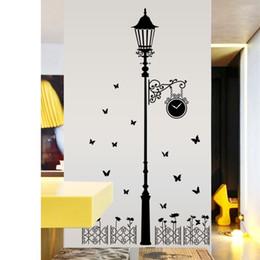 decorazione stradale Sconti New Pattern Living Room Wall Stickers Modern Minimalism Removable Street Lamp Paster Fashion Home Decor di alta qualità 7ch Ww