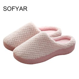 60dffa0b9 Winter cotton slippers cotton shoes couple household lovers keep warm  shallow shoes solid flat with indoor simple slipper