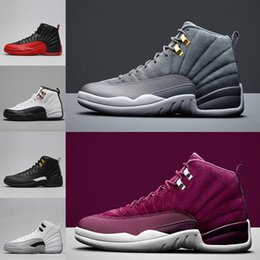 Wholesale Masters Media - 2018 new 12 12s man Basketball Shoes white The Master gym red flu game taxi playoffs Barons Sports snerkers Shoes