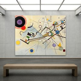 Wholesale paintings kandinsky - Embelish 1 Pieces Large Abstract Wall Posters By Wassily Kandinsky For Living Room HD Canvas Painting Home Decor Framed Pictures