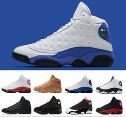 Wholesale gold man game - 13 basketball shoes hyper royal He Got Game Altitude Wheat Bred DMP Chicago black cat mens 13s trainers Sports Snerkers size 8-13