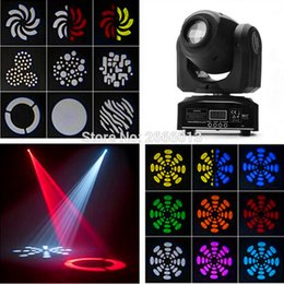 Wholesale Gobo Projectors Led - LED 30W spot moving head lights Party disco dj stage lighting 30W mini gobo projector DMX stage effect light LED pattern lamps