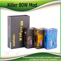 Wholesale full bottles - Original Aleader Killer 80W BF Full Resin Squonk Box Mod with 7ml Squonk Bottle Single 18650 Battery Vape Ecig Mods 100% Authentic