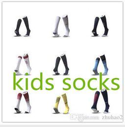 Wholesale Table Tennis Socks - 2017 2018 kids Socks Real madrid soccer Sports Socks youth boy RONALDO white Black JAMES BALE RAMOS ISCO MODRIC football Socks factory Outle
