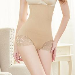 414372b3a3 Women Cotton High Waist Underwear Sexy Lace Woman Panties Shapewear Abdomen  Hips Slimming Calcinha Lingerie Soft Briefs Seamless