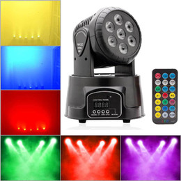 sound equipment wholesalers Coupons - Professional RGBW Mixing Color DMX-512 Mini Moving Head Light 7 LED Disco Light Dj Equipment Dmx Led Lighting Strobe Stage Light