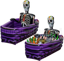 Wholesale skeletons props - Halloween Inflatable Skeleton Drinks Cooler Party Accessories Fun Prop Decoration Newest Fancy Party Supplies LJJN238
