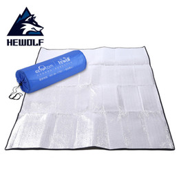 Wholesale foam sleeping pads camping - Folding Outdoor Camping Tent Damp Proof Sleeping Mat Thicken Aluminum Film Waterproof Beach Picnic Pad