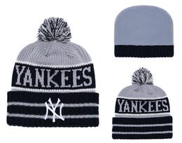 Chinese High Quality Men s New York Cuffed Pom Beanie Hats Knitted NY Beanie  Wool Warm Baseball b56aa13c1a3