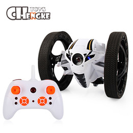 Wholesale Battery Cars For Kids - Mini Bounce Car RC 2.4GHz Strong Jumping RC Car With Flexible Wheels Remote Control Car For Kids Gifts Robot Toys