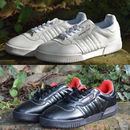 save off 8472f 2d7d9 2018 Adidas Yeezy Calabasas Powerphase Kanye West Calabasas CQ1693 Para  Hombres Mujeres Zapatillas de cuero superior Zapatos al aire libre