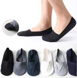Calcetines bajos para los hombres online-Hot Unisex Low Cut Calcetines de tobillo Casual Calcetín de algodón suave Mocasín Barco Antideslizante Invisible Sin espectáculo Ligero y cómodo para hombres y mujeres