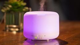 Canada Nouveau Diffuseur D'huile Essentielle 400ML Humidificateur D'air Aroma 7 Couleur LED Aromathérapie Électrique À Ultrasons Diffuseur D'arôme Mist Maker Offre