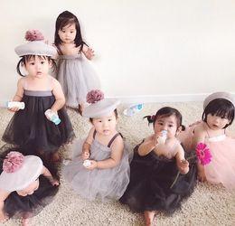 suspensórios de dança Desconto Novo estilo do bebê meninas tutu saias bebês crianças suspender malha véu vestido crianças vestidos de princesa meninas vestido de dança
