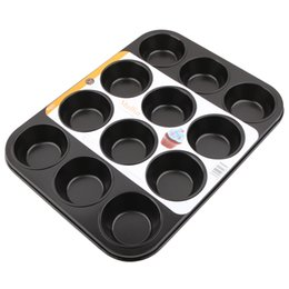 Tazas de muffins online-Molde para pasteles con forma de mollete grande de 12 tazas Moldes para hornear antiadherentes para magdalenas Moldes para hornear de cocina y moldes para repostería