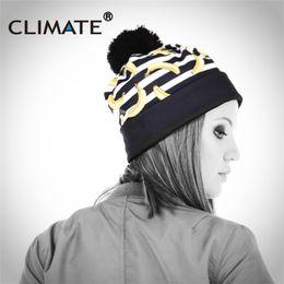 2020 chapéus de inverno únicos CLIMA Novas Mulheres Chapéu de Inverno Quente Chapéus Pompon Beanie 3D Impressão de Bananeira Cap Gorros Único de Malha Quente Inverno Chapéu Pom desconto chapéus de inverno únicos