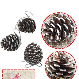 2019 decorazioni appiccicose diy 9pcs / set Pigne di Natale Bauble Xmas Tree Hanging Decorazioni Ornament Home Party Decorazioni fai da te sconti decorazioni appiccicose diy