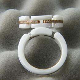2019 toque para homens ct C anel de Cerâmica Paris C anel de diamante Ultra série Preto Branco mulheres anéis de festa de casamento Jovem anel distintivo único