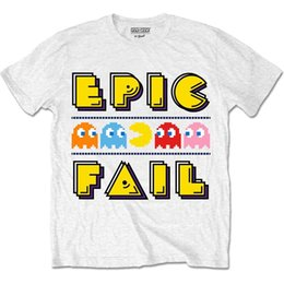 pacman games Promo Codes - Pac-Man Epic Fail Classic Official Pacman Namco Arcade Game White Mens T-shirt cattt windbreaker Pug tshirt