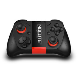 Bluetooth controller di gioco ios online-MOCUTE 050 VR Game Pad Joystick Controller Bluetooth Selfie Telecomando Otturatore Gamepad per Android iOS MID TV PC Smart Phone + Holder
