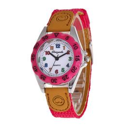 Regalos para niños online-Niños relojes para niños banda de nylon multicolor reloj de pulsera de los niños regalos de navidad estudiantes reloj de cuarzo con caja de regalo envío de la gota
