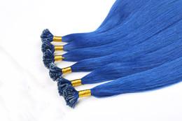 Wholesale Human Hair Italian Keratin - 0.8g s Remy Prebonded U Tip Human Hair Extension Italian Keratin European Fusion Hair 100s pack DHL Fast Shipping