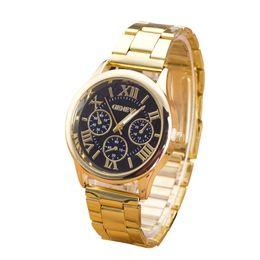 Римские цифровые браслеты онлайн-Bracelets 2018 Women Retro Fashion Roman Numerals wrist watch Stainless Steel Analog Quartz Femme Bracelets Jewelry DropShipping