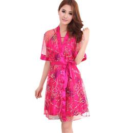 e5d600b290d Women Ladies 2 Pieces Retro Rayon Sexy Intimates Lingerie Slik Dress +  Robes Nightgown Sleepwear 5 Colors