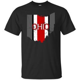 diseño gráfico caliente Rebajas Estado de Ohio Pride Diseño gráfico a rayas Negro marino para hombre Camisetas de manga corta verano Venta caliente Nueva camiseta Hombres camiseta 100% algodón