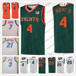 4ecc008ad Miami Hurricanes  4 Lonnie Walker IV 3 City Edition Dwyane Wade Goran  Dragic Hassan Whiteside Stitched White College Basketball Red Jerseys