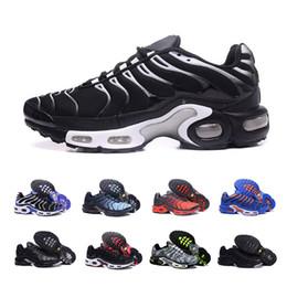 new product 0150e e50cc nike air max TN max TN 2018 Hot TN Plus Scarpe da corsa Outdoor Run Shoes tn  Nero Bianco Sport Shock Sneakers Mens richiesta in argento oliva  metallizzato ...