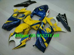 jaunes Promotion Kit carénage moto haute qualité pour SUZUKI GSXR1000 K7 07 08 GSXR 1000 2007 2008 Ensemble carénage ABS bleu jaune + cadeaux SX22