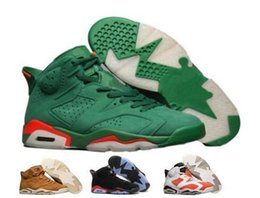 Wholesale Christmas Countdown - New 6 Basketball Shoes Mens Women Green 6s VI Gatorade UNC NRG Black Cat Infrared Countdown Mike Suede Pack Sport Shoe Sneakers