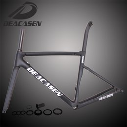 Wholesale Diy Carbon Road Bike - Deacasen private custom carbon road frame cycling bicycle racing frameset Frame+Fork+Seatpost+Headset+Clamp carbon fiber DIY decals