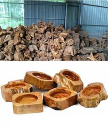 Wholesale Wholesale Ash Holders - Dia Wooden Round Brown Black Ash Holder Smoke Cigarette Ashtray,brown Pocket Wood Ashtray Car Ashtray Wooden Ashtray