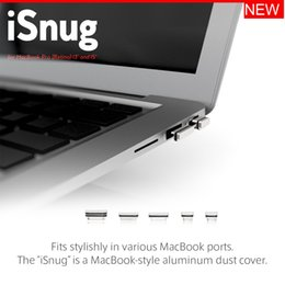 Discount anti dust macbook - Free shipping 8MOBILITY iSnug Aluminum Silver Anti-Dust Stopper   Port Cover for macbook Pro Retina 13