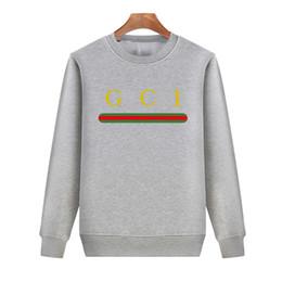 2018 graue pullover hoodie männer 18FW Luxury European Grey Logo  Gestreiften Pullover Retro Street Fashion Einfache bd631a72a1